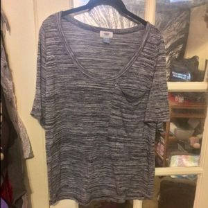 Old Navy Tops - Old Navy Gray Pocket Blouse